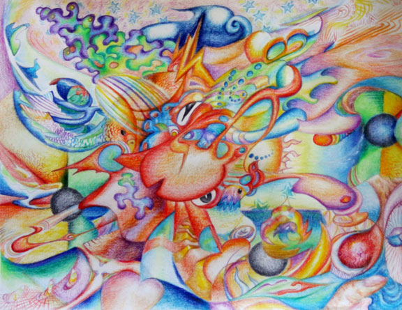 Cephalodelic (2011), pencil on 8.5x11 paper. Vallejo, USA