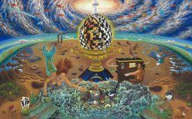 Egolution (It's no Yoke), Oil on canvas, 30 x 48