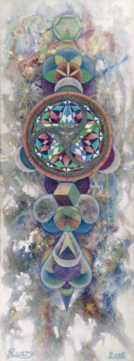 Sacred Chaos, Oil on canvas, 12 x 30