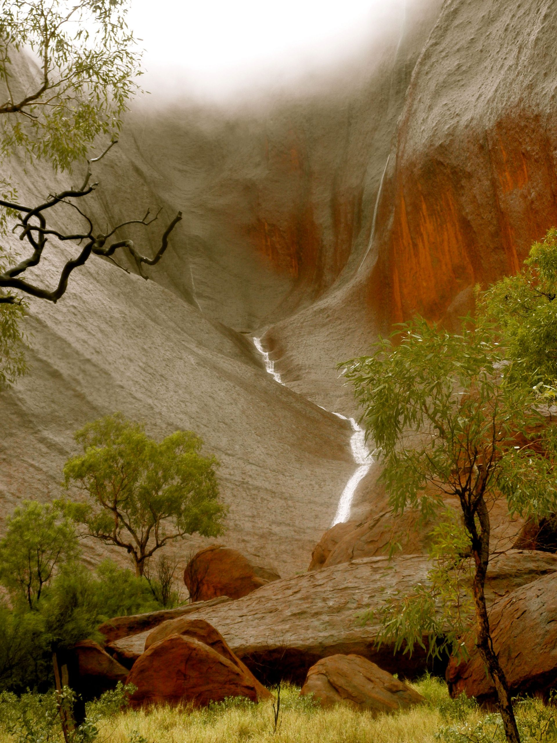 Uluru in the rain, Northern Territory