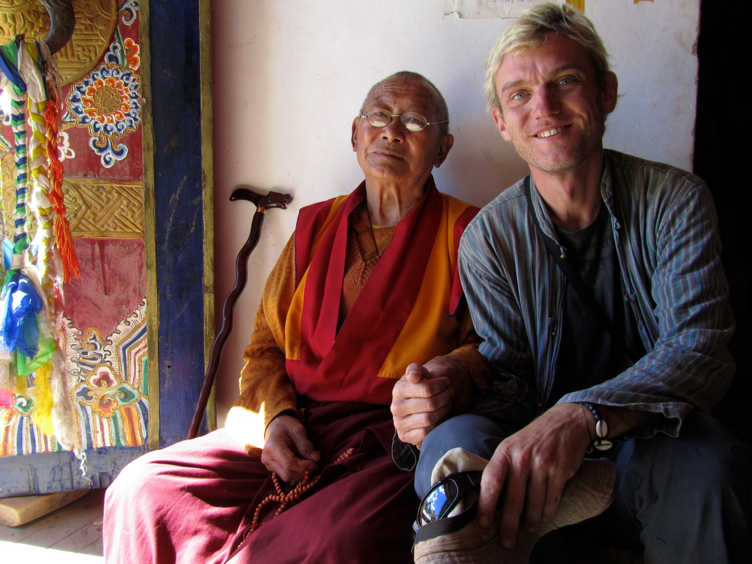 With the heartfull caretaker at Ghanze Gompa, Kham