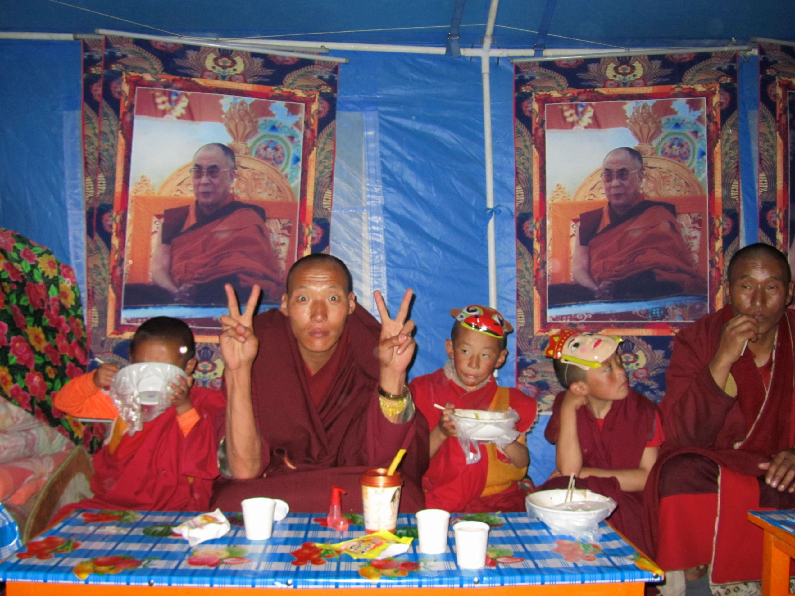 Monks at Zhongian gathering, Kham