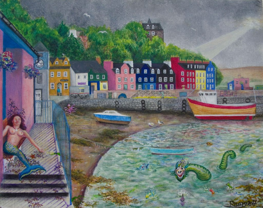 Ballymory, acrylic on canvas board (2017)