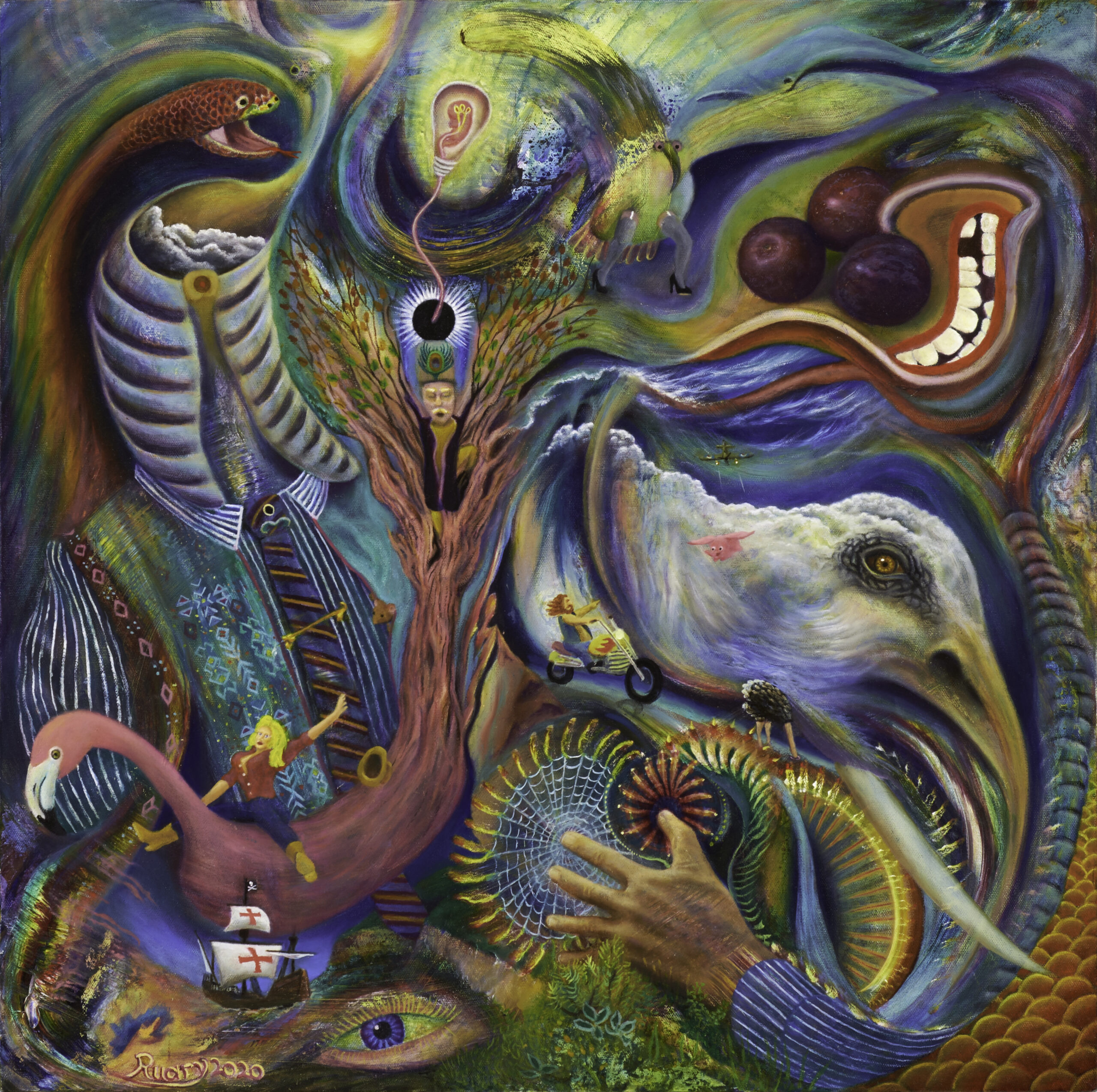 Kundamingo (2020), Oil on canvas, 24 x 24